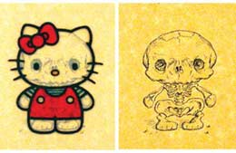 Skeletal Systems.  Ever wondered what Hello Kitty would look like under.